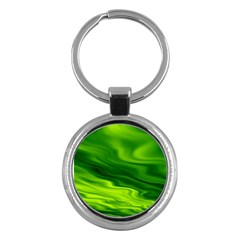 Green Key Chain (round) by Siebenhuehner