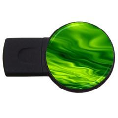 Green 2gb Usb Flash Drive (round) by Siebenhuehner