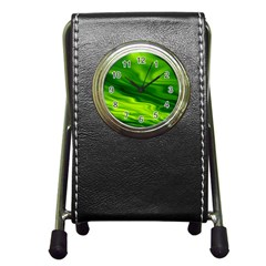 Green Stationery Holder Clock by Siebenhuehner