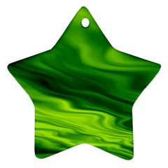 Green Star Ornament (two Sides) by Siebenhuehner