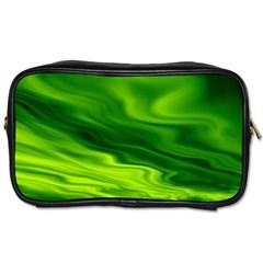 Green Travel Toiletry Bag (one Side) by Siebenhuehner