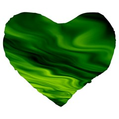 Green 19  Premium Heart Shape Cushion by Siebenhuehner