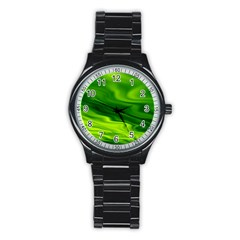 Green Sport Metal Watch (black) by Siebenhuehner