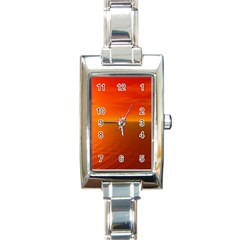 Sunset Rectangular Italian Charm Watch by Siebenhuehner