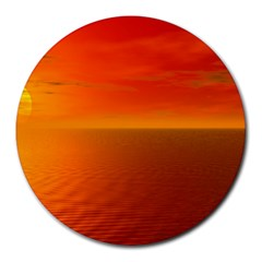 Sunset 8  Mouse Pad (round) by Siebenhuehner