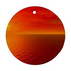 Sunset Round Ornament by Siebenhuehner