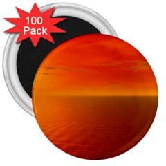 Sunset 3  Button Magnet (100 Pack) by Siebenhuehner