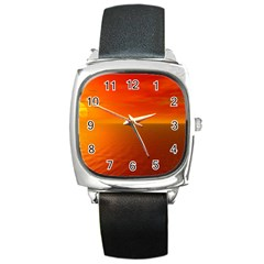 Sunset Square Leather Watch by Siebenhuehner