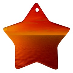 Sunset Star Ornament (two Sides) by Siebenhuehner