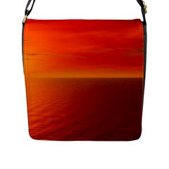 Sunset Flap Closure Messenger Bag (large) by Siebenhuehner