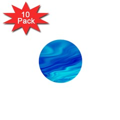 Blue 1  Mini Button (10 Pack) by Siebenhuehner