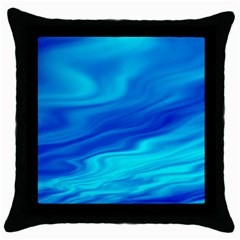 Blue Black Throw Pillow Case by Siebenhuehner
