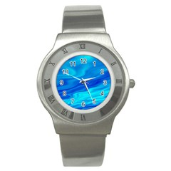 Blue Stainless Steel Watch (unisex) by Siebenhuehner