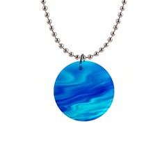 Blue Button Necklace by Siebenhuehner