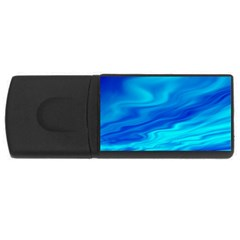 Blue 4gb Usb Flash Drive (rectangle) by Siebenhuehner