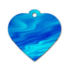 Blue Dog Tag Heart (one Sided)