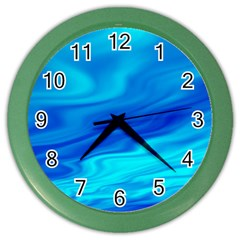 Blue Wall Clock (color) by Siebenhuehner