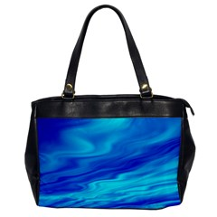 Blue Oversize Office Handbag (one Side) by Siebenhuehner