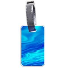 Blue Luggage Tag (one Side) by Siebenhuehner