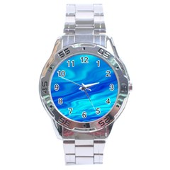 Blue Stainless Steel Watch (men s) by Siebenhuehner