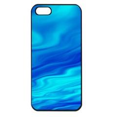 Blue Apple Iphone 5 Seamless Case (black) by Siebenhuehner