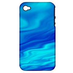 Blue Apple Iphone 4/4s Hardshell Case (pc+silicone) by Siebenhuehner