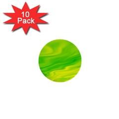 Green 1  Mini Button (10 Pack) by Siebenhuehner