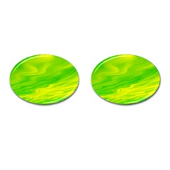 Green Cufflinks (oval) by Siebenhuehner