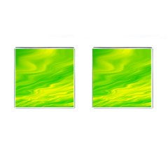 Green Cufflinks (square) by Siebenhuehner