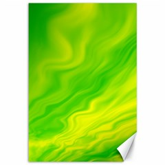 Green Canvas 12  X 18  (unframed) by Siebenhuehner