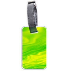 Green Luggage Tag (one Side) by Siebenhuehner