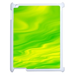 Green Apple Ipad 2 Case (white) by Siebenhuehner