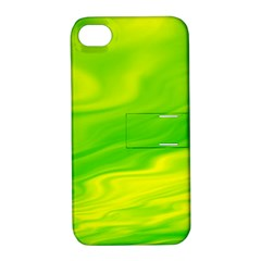 Green Apple Iphone 4/4s Hardshell Case With Stand by Siebenhuehner