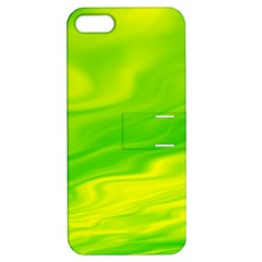 Green Apple Iphone 5 Hardshell Case With Stand by Siebenhuehner
