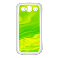 Green Samsung Galaxy S3 Back Case (white) by Siebenhuehner