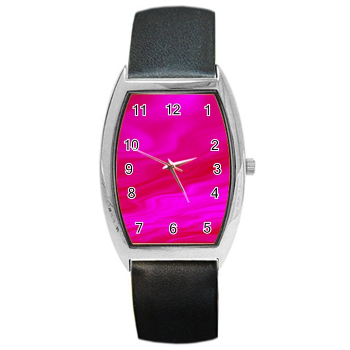 Design Tonneau Leather Watch