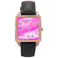 Background Rose Gold Leather Watch  by Siebenhuehner