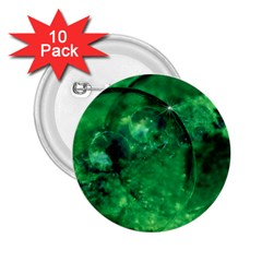 Green Bubbles 2 25  Button (10 Pack) by Siebenhuehner