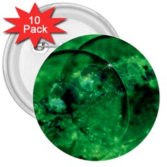 Green Bubbles 3  Button (10 Pack) by Siebenhuehner