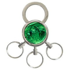 Green Bubbles 3 Ring Key Chain by Siebenhuehner