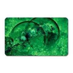 Green Bubbles Magnet (rectangular) by Siebenhuehner