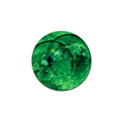 Green Bubbles Golf Ball Marker by Siebenhuehner