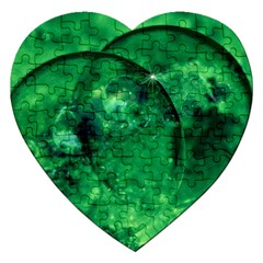 Green Bubbles Jigsaw Puzzle (heart) by Siebenhuehner