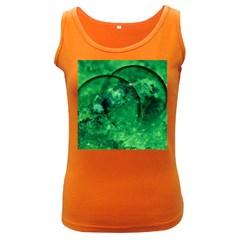 Green Bubbles Womens  Tank Top (dark Colored) by Siebenhuehner