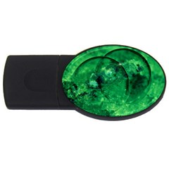 Green Bubbles 4gb Usb Flash Drive (oval) by Siebenhuehner