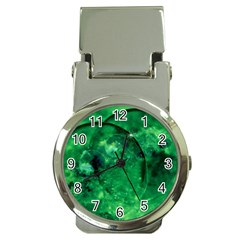Green Bubbles Money Clip With Watch by Siebenhuehner