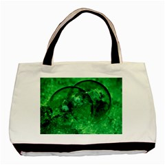 Green Bubbles Classic Tote Bag by Siebenhuehner