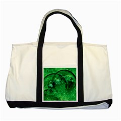 Green Bubbles Two Toned Tote Bag by Siebenhuehner