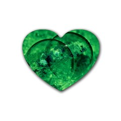 Green Bubbles Drink Coasters (heart) by Siebenhuehner