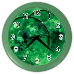 Green Bubbles Wall Clock (color) by Siebenhuehner
